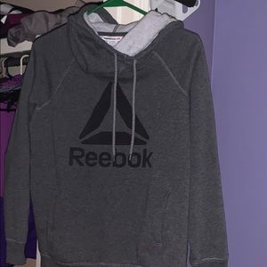 Gray Reebok hoodie